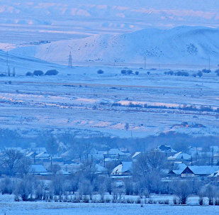 Вид на село в Жумгальском районе Нарынской области. Архивное фото