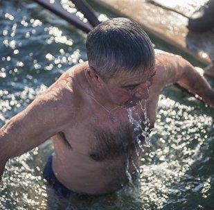 Православный праздник Крещение Господне, или Богоявление. Архивное фото