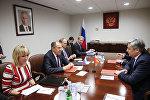 Встреча Эрлана Абдылдаева с Сергеев Лавровым в Нью-Йорке