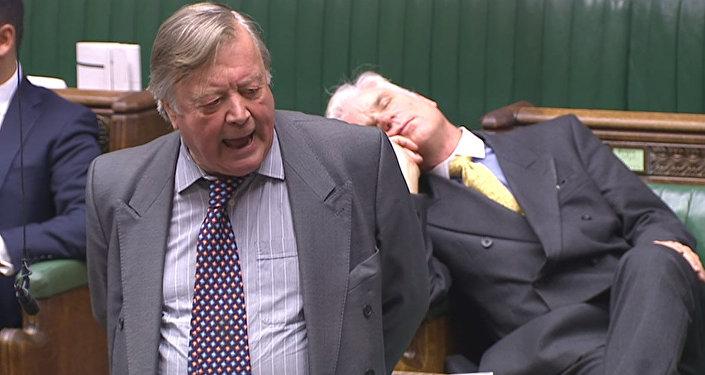 Британский депутат уснул на дебатах в прямом эфире — видео