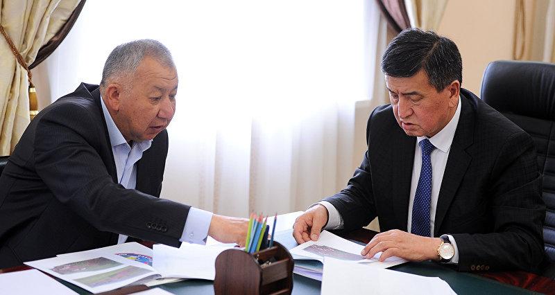 Премьер-министр Кыргызской Республики Сооронбай Жээнбеков принял министра чрезвычайных ситуаций Кыргызской Республики Кубатбека Боронова.