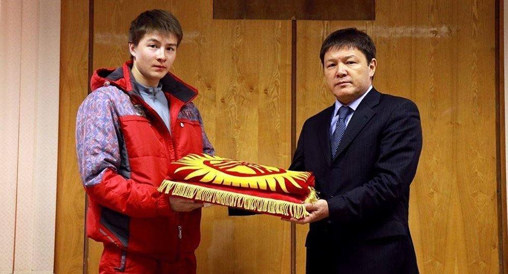 Спортчу Тариэль Жаркымбаевдин архивдик сүрөтү