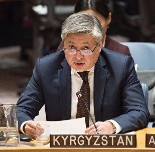 Министр иностранных дел Кыргызстана Эрлан Абдылдаев на мероприятиях Совета безопасности Организации Объединенных Наций в Нью-Йорке (США)