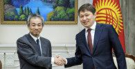 Премьер-министр КР Сапар Исаков на встрече с постоянным представителем Японского агентства международного сотрудничества (JICA) в Кыргызстане Казухико Кикучи