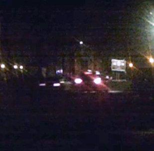 Момент аварии в центре Бишкека попал на видео