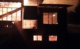 Ноокат шаарындагы мечит өрттөнүп кетти. Видео
