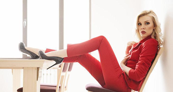 Предприниматель Кристина Кузьмина во время фотосета. Архивное фото