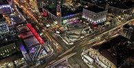 Фотофакт: түнкү Бишкектин жаркыраган көчөлөрү