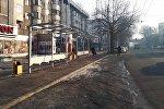 В Бишкеке на пересечении улиц Киевской и Абдрахманова в западном направлении устанавливают остановочную станцию.