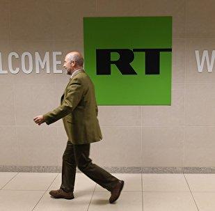 Сотрудник в офисе телеканала Russia Today. Архивное фото