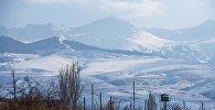 Вид на горы в Иссык-Кульско области. Архивное фото