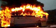 В Ошской области горит кафе — видео с места происшествия