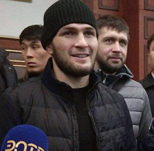 Хабиб Нурмагомедов Бишкекке келди