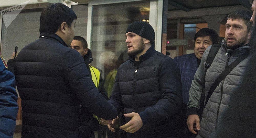 Архивное фото известного российского бойца UFC Хабиба Нурмагомедова