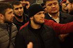Боорсоки и джаз — как встречали звезду UFC Хабиба Нурмагомедова в Бишкеке