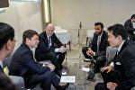 Премьер-министр Кыргызской Республики Сапар Исаков в рамках участия во Всемирном экономическом форуме в городе Давос (Швейцария) встретился с представителями ряда крупных международных компаний