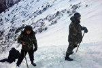 Снежная лавина в Джеты-Огузском районе