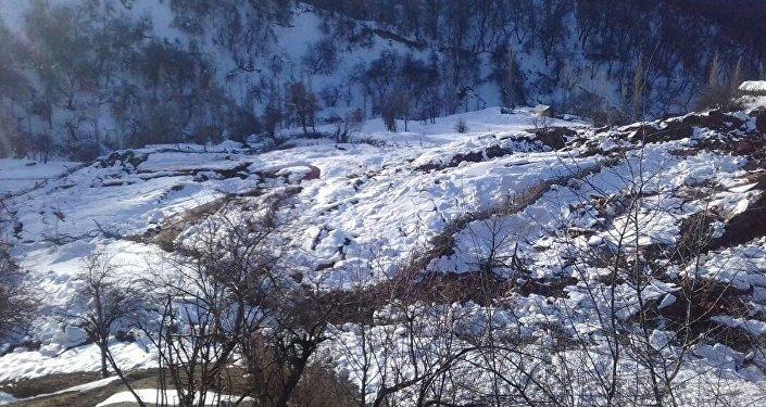 Жалал-Абад облусунун Сузак районундагы Орток айылында жер көчкү жүрүү коркунучу пайда болгонун ӨКМ билдирди