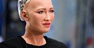 Человекоподобный робот София, разработанный специалистом фирмы Hanson Robotics Дэвидом Хэнсоном. Архивное фото