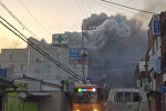 Пожар в больнице в городе Мильян (Южная Корея)