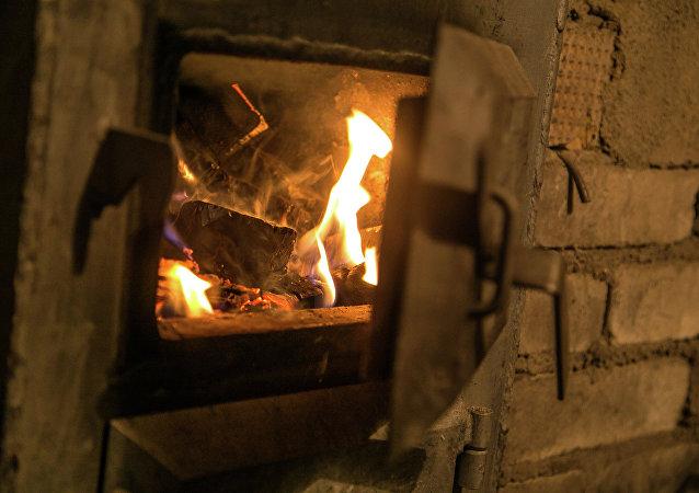 Огонь разведенный в печи. Архивное фото
