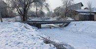 Замерзшая река Ала-Арча