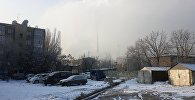 Вид на ТЭЦ Бишкека во время временного отказа оборудования подачи