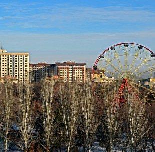 Вид на парк Панфилова в Бишкеке. Архивное фото