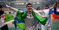 Футбол боюнча Азия чемпионатын жеңип алган Өзбекстан оюнчулары