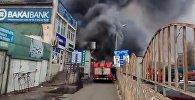 На Ошском рынке крупный пожар — прямая трансляция