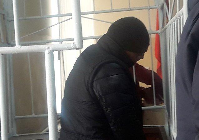 Подсудимый Афтандил Таалайбек уулу во время судебного процесса по делу о ДТП где погиб Темир Джумакадыров