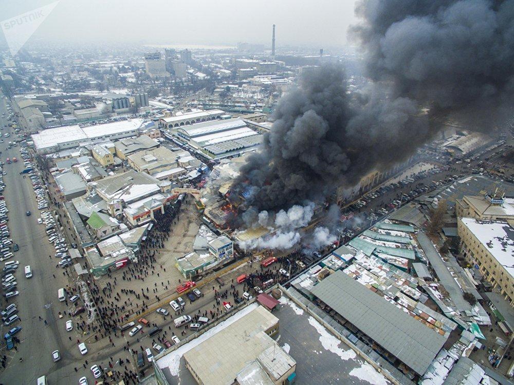 ВКиргизии зажегся крупнейший вгосударстве рынок