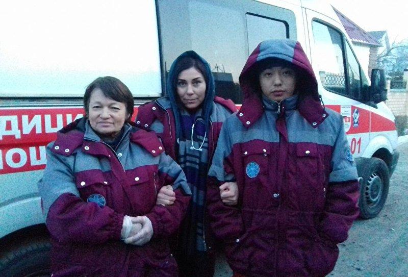Реанимационная бригада скорой помощи Бишкека
