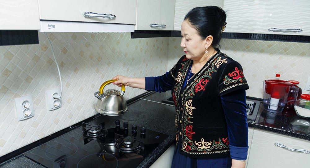 Бишкек шаарындагы Көлмө жаңы конушуна жаратылыш газы берилди