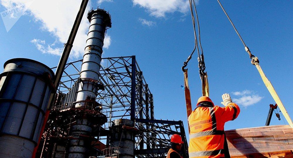 Строительство ТЭЦ в России. Архивное фото