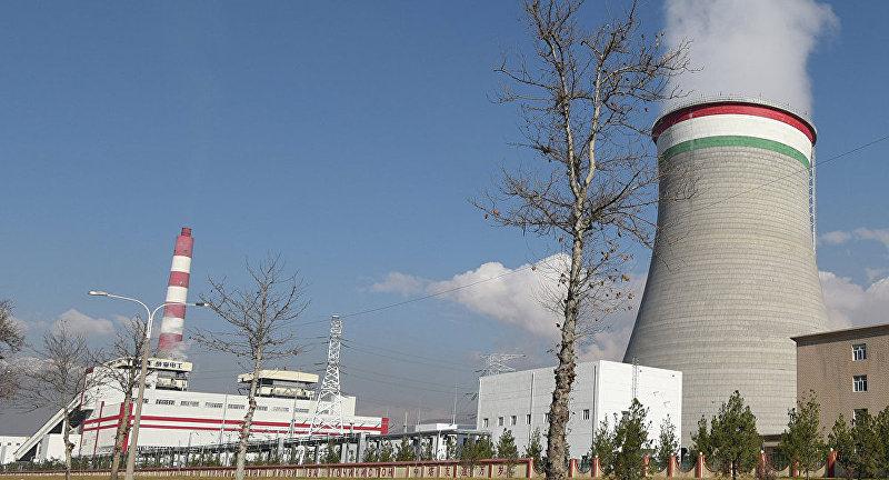 Вид на ТЭЦ Душанбе-2