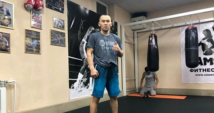 Кыргызстандык спортчу Акжол Сулайманбек уулу. Архив
