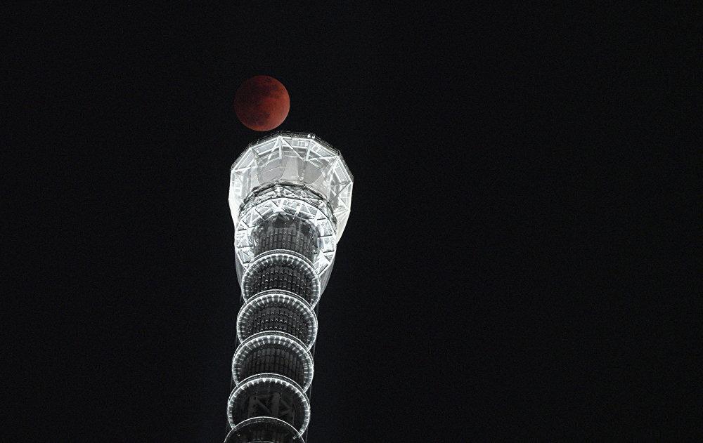 Затмение Суперлуны в разных уголках планеты — Токио