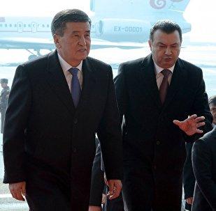 Кыргызстандын президенти Сооронбай Жээнбеков Тажикстанга расмий сапар менен келди.