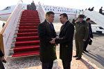 Душанбе Сооронбай Жээнбековду кантип тосуп алды. Видео