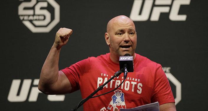 Америкалык беделдүү делген UFC мушкерлер уюмунун президенти Дана Уайт. Архив