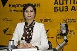 Белгилүү диктор Айнура Кабатай Sputnik Кыргызстан студиясында