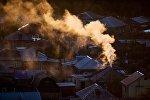 Дым от труды дома. Архивное фото
