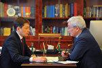 Премьер-министр Сапар Исаков обсудил с председателем Государственной таможенной службы КР Кубанычбеком Кулматовым итоги работы службы за 2017 год, а также результаты за январь 2018 года