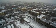Кажется, оператор снял ваш дом! Снежный Бишкек с высоты птичьего полета