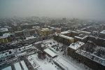 Карга бөлөнгөн Бишкектин асмандан көрүнүшү