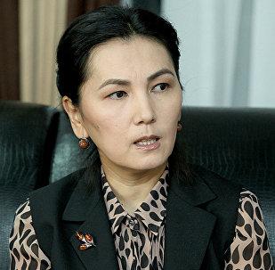 Архивное фото экс-генпрокурора Аиды Саляновой. Архивное фото