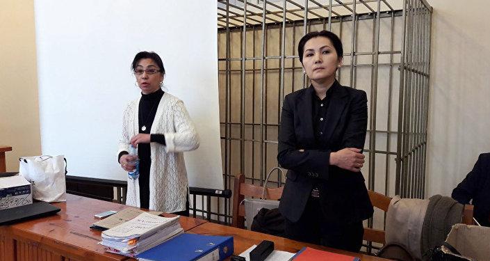 Депутат Жогорку Кенеша КР Аида Салянова во время суда. Архивное фото