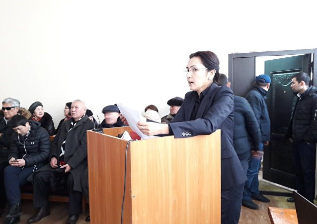 Депутат Жогорку Кенеша КР Аида Салянова во время заседания в Бишкекском городском суде