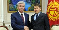 Премьер-министр Сапар Исаков Казакстандын Кыргызстандагы элчиси Айымдос Бозжигитовду иш мөөнөтү соңуна чыкканына байланыштуу кабыл алды